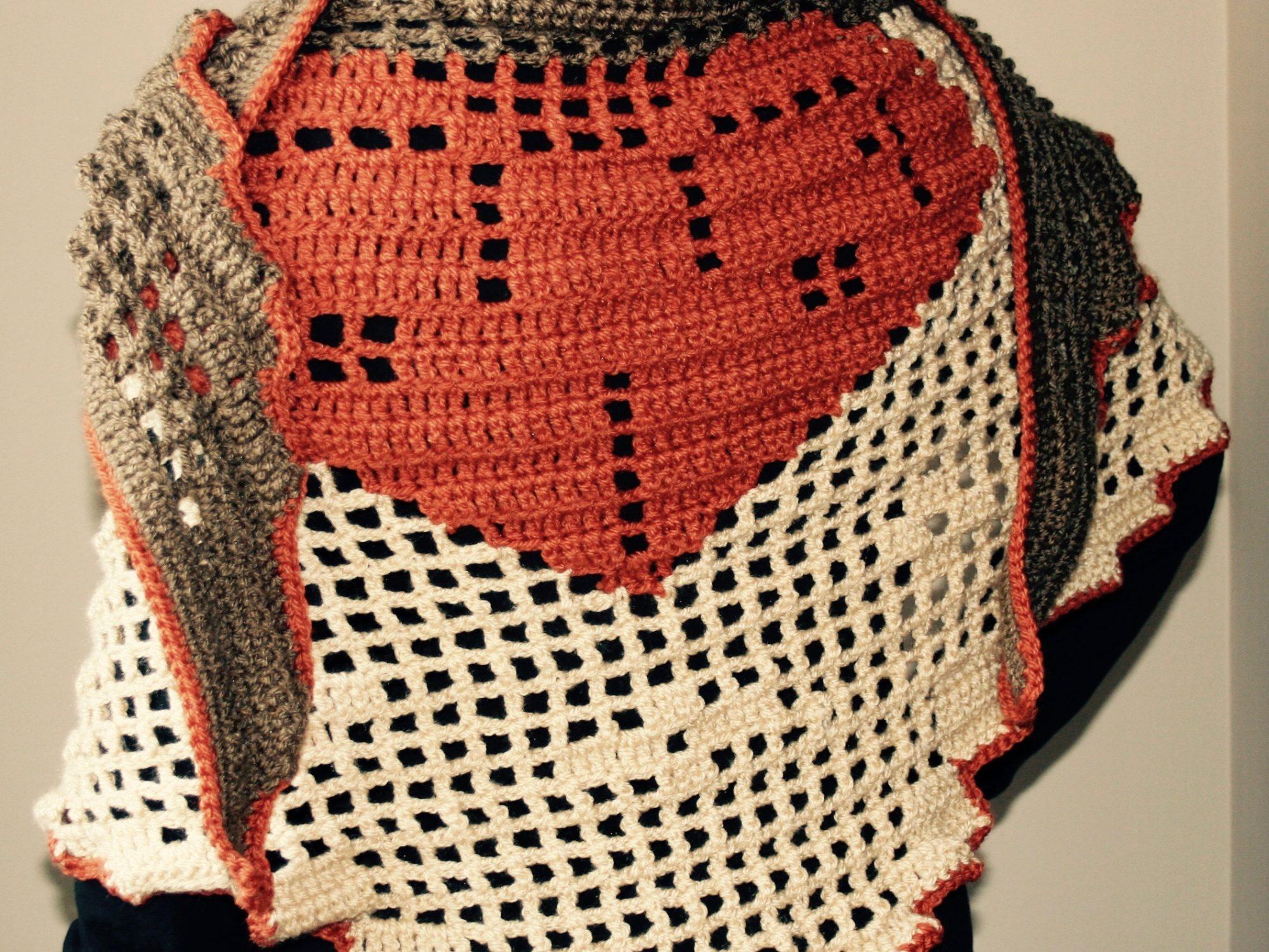 shawl crochet filet